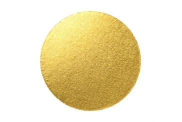 9 inch Round GOLD 3mm Double Thick Cake Card (clearance)