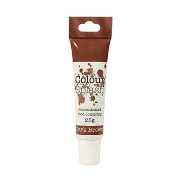 Colour Splash Edible Food Colouring Paste / Gel Dark Brown 25g
