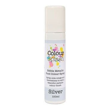 Colour Splash Edible Food Silver Lustre Spray 100 ml