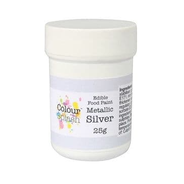 Colour Splash Edible Metallic Silver Food Paint