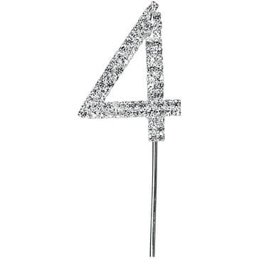 Diamante Cake Topper Birthday / Number Pick 4th