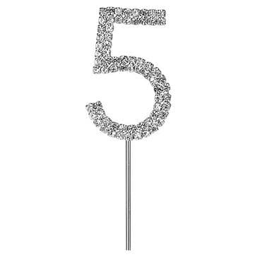 Diamante Cake Topper Birthday / Number Pick 5th