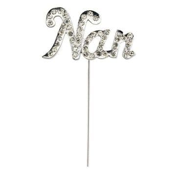 Diamante Cake Topper Pick Nan