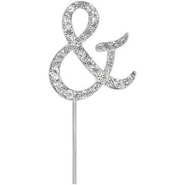 "Diamante Cake Topper pick ""&"" Sign"