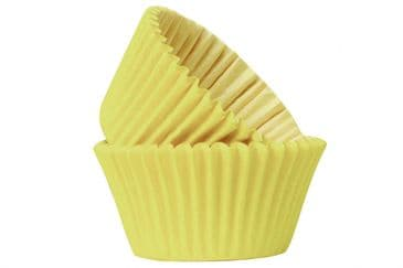 Doric Yellow Cupcake / Muffin Cases Pack of 50 Approx