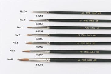 No.00 Artist Paint Brushes - Sable