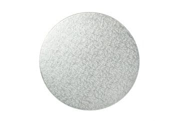 Pack of 4 inch Round Silver Cake DRUM / Boards 12mm Thick