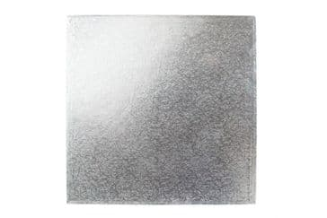 PACK of 4 inch Square Silver Cake DRUM / Boards 12mm Thick