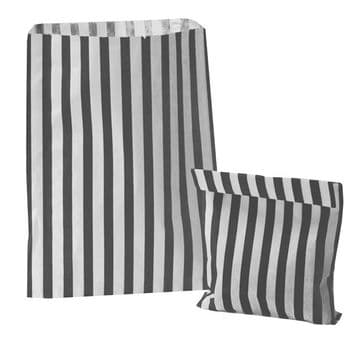 Party Bags Paper Black Stripe x approx 50