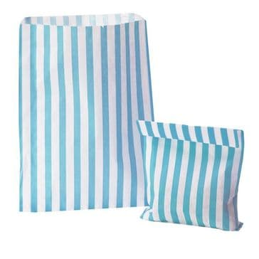 Party Bags Paper Light Blue Stripe x approx 50