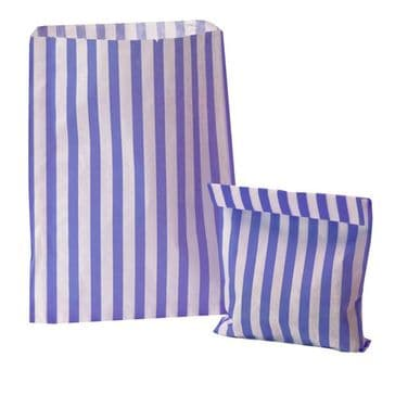 Party Bags Paper Purple Stripe x approx 50