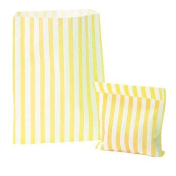 Party Bags Paper Yellow Strip x approx 50