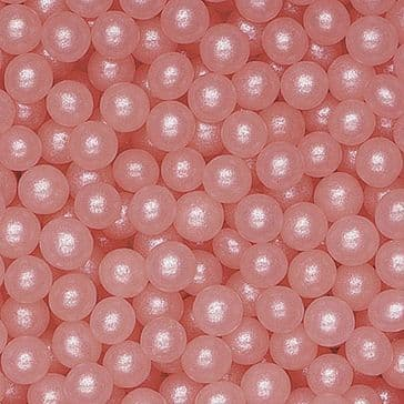Pink Pearl Balls / Pearls / Dragees 4 mm