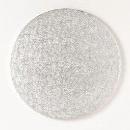 Round Silver 3mm Double Thick Cake Cards