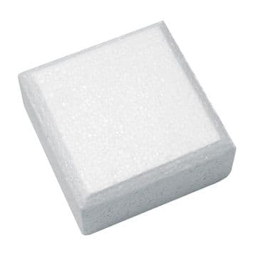 Square Polystyrene Cake Dummy 8 inch x 4 inch Deep (Chamfered Edge Dummies) (clearance)