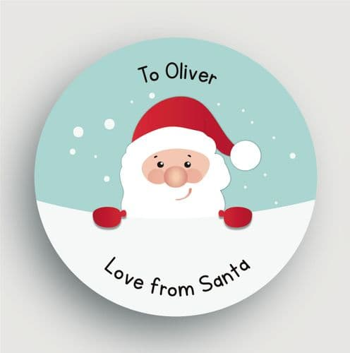 24 Personalised Christmas Stickers SS15