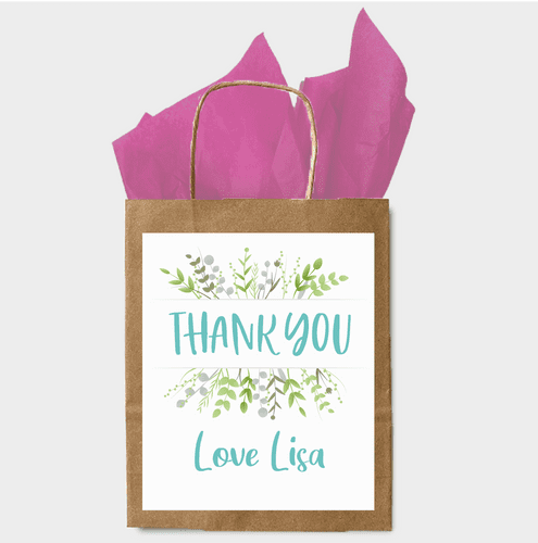 Personalised Paper Gift Bag - Thank you  (1)