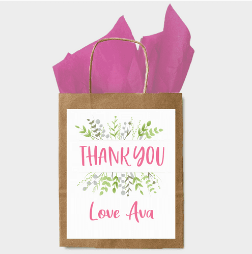 Personalised Paper Gift Bag - Thank you  (2)
