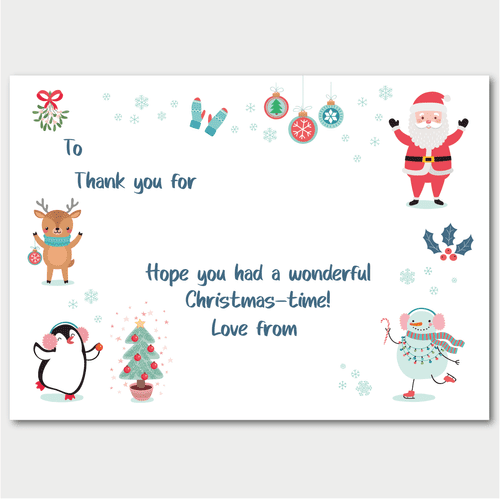 Thank You Postcards - pack of 5