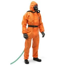 Heavy Duty Semi Disposable HAZMAT Response Coverall